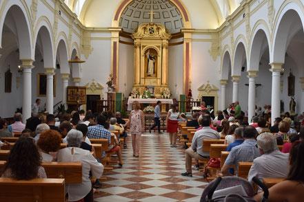 Celebración de la misa del domingo.