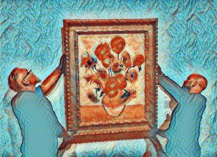 Nabewerking Van Gogh schilderij de Zonnebloemen - © redactie dag van de vrouwen