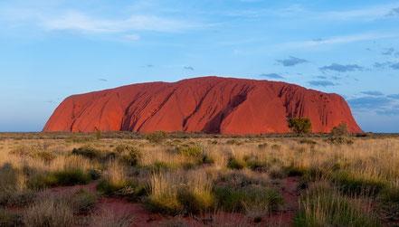 Uluru: religieuze plaats voor Aboriginals verbonden met de Droomtijd