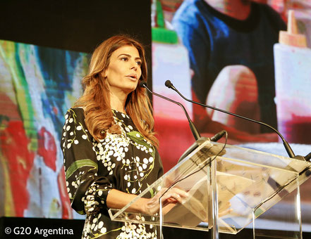 Juliana Awada spreekt over early childhood centers in Buenos Aires