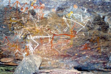 Aboriginal rots tekeningen in Kakadu National Park