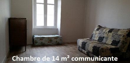 Chambre de 14 m communicante korn bro gite 56 - Lit pour deux personnes ...