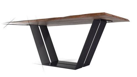 Tischgestell aus Stahl Untergestell Stahlgestell in X Form auf Maß