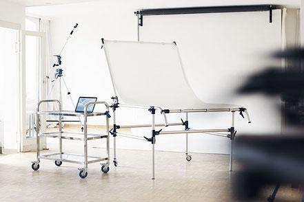Produktfotografie mit Aufnahmetisch von Manfrotto im Mietstudio Osnabrück