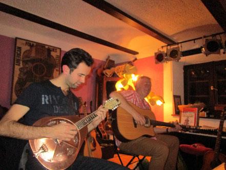 Das zweite Hauskonzert bei uns: Crosswind (F) mit Christian Fromentin & Tim Broadbent