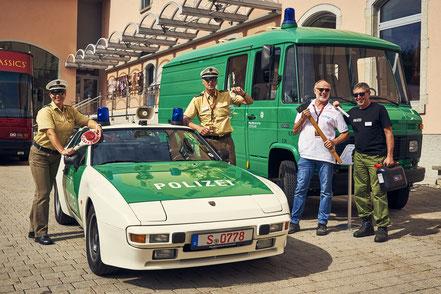 Polizei-Oldtimer bei der Schwarzwald Classic 2020
