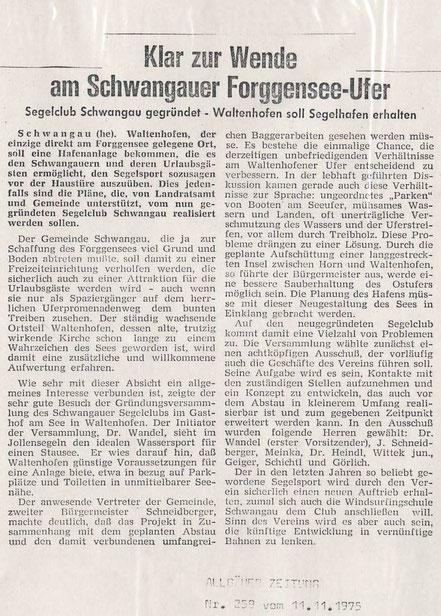 Allgäuer Zeitung vom 11.11.1975