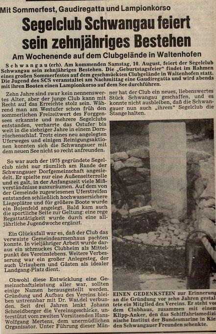 Allgäuer Zeitung von 1985