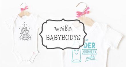 Babybodys weiß - nähfein