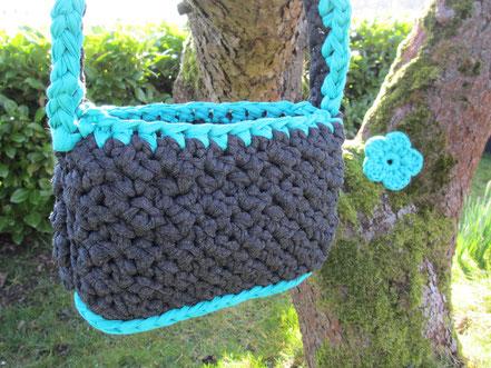 Noodles Textilgarn Handtasche Blume
