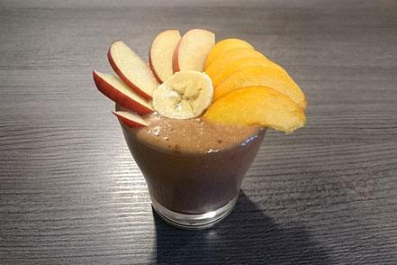Apfel-Pfirsich-Bananen-Smoothie