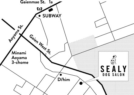dog salon sealy access map