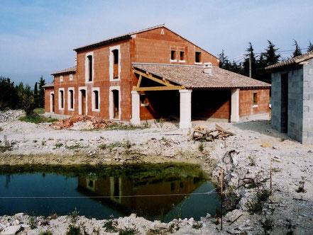 Maison neuve en monomur et pierre de taille, Uzès, Gard