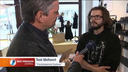 Thüringen Journal_Erfurt_Designmarkt F11 im Pop up Store hat eröffnet_ Yvette en vogue als Erfurter Modelabel steht für nachhaltiges Modedesign_Von der ersten Geschäftsidee bis hin zum Kunden ist es oft ein mühsamer Weg -_Moment