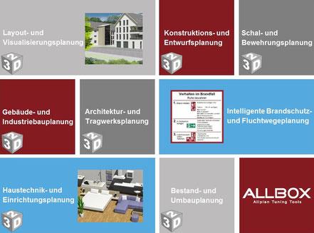 Bedienerfreundliche Assistententechnologie, BIM Elemente und Bauteile, hochauflösende Texturen, professionelle Visualisierungen.