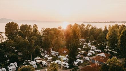"""Die Lage des """"Park Camping am See"""" ist einmalig"""