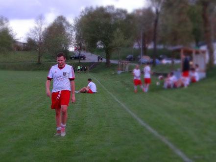 Ein zufriedener Doppeltorschütze Vinzenz Weiß nach dem Spiel gegen Ellwangen.