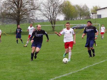 Trotz 1:0 Führung ging das Derby der Reserve verloren (hier Janek Breitner).
