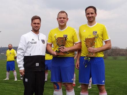 Und 2x Bronze für Kevin Losert und Stefan Amann (je 300 Spiele)