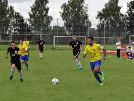 Abdullah Deregözü traf zum zwischenzeitlichen 2:2 in Schemmerberg.