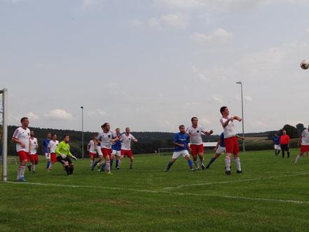 Die Spieler der Reserve waren viel mit Verteidigungsarbeit beschäftigt.