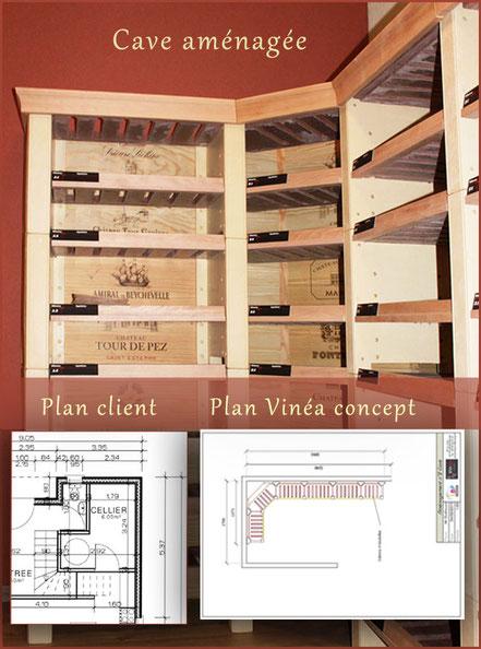 Rangement de cave à vins personnalisée