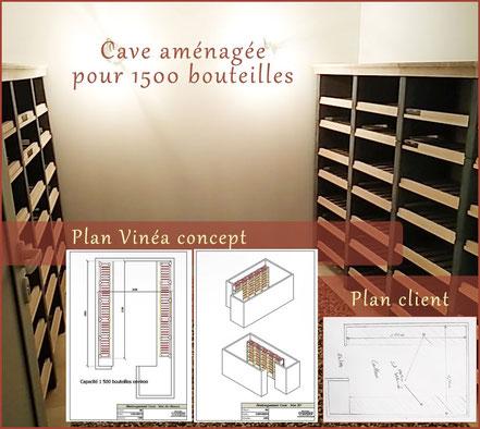 Cave aménagée pour 1500 bouteilles de vin
