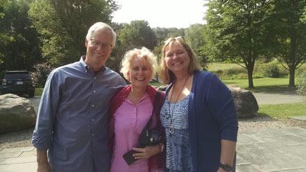 Meine Lehrer Chris Germer (links) und Michelle Becker (rechts) in 2017