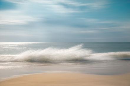 Nordsee, North Sea, Fotokunst, abstract, seascape, abstrakt Meer, Kunst, Strand, beach, Fine Art, Fotografie, photography, wall art, Holger Nimtz, impressionistisch, Impressionismus, Wandbild, malerisch, verwischt,