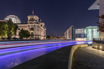 Berlin, Spree, Langzeitbelichtung, longexposure, Holger Nimtz, festival of lights, Reichstag,
