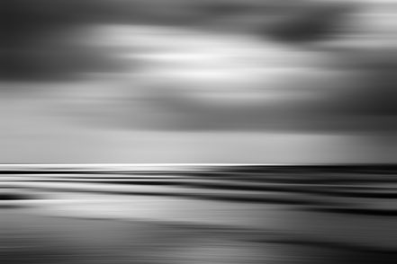 Nordsee, la mer, monochrom, schwarz-weiß, Holger Nimtz, dekorativ, impressionistisch, Impressionismus, abstrakt, Wandbild, malerisch, surreal, Surrealismus, Urlaub, vacation, verwischt, intentional camera movement, ICM, Inspiration,