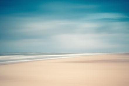 Nordsee, North Sea, wide beach, Streifzüge, Holger Nimtz, dekorativ, impressionistisch, Impressionismus, abstrakt, Wandbild, malerisch, surreal, Surrealismus, Urlaub, vacation, verwischt, intentional camera movement, ICM, Inspiration,