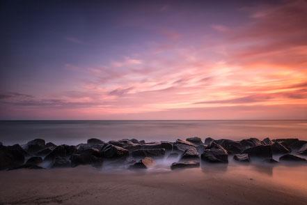Hvide Sande, sunset, Sonnenuntergang, Denmark, Dänemark, Nordsee, North Sea, longexposure, Lanzeitbelichtung, Holger Nimtz, Fotografie, photography, seascape,