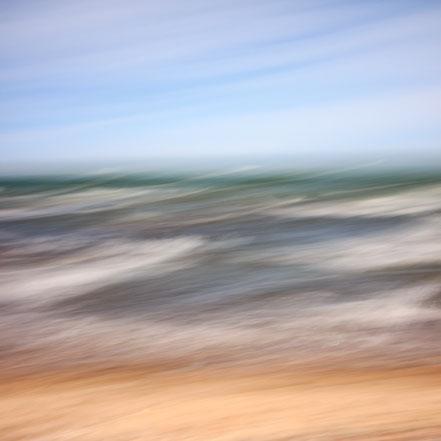 Ostsee, Baltic Sea, Fotokunst, abstract, seascape, abstrakt Meer, Kunst, Strand, beach, Fine Art, Fotografie, photography, wall art, Holger Nimtz, impressionistisch, Impressionismus, Wandbild, malerisch, verwischt,