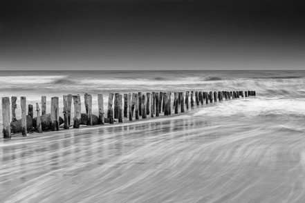 Blavand, longexposure, Langzeitbelichtung, black and white, monochrome, Denmark, Dänemark, Nordsee, North Sea, Holger Nimtz, Fotografie, photography, seascape,