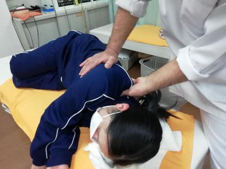 頚部周辺への手技療法