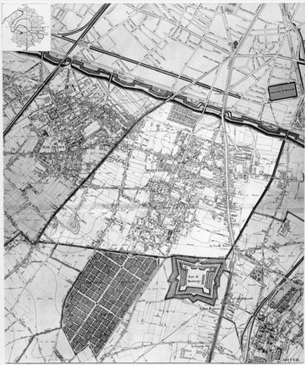 Extrait de l'Atlas des Communes du Département de la Seine - Carte Montrouge 1900