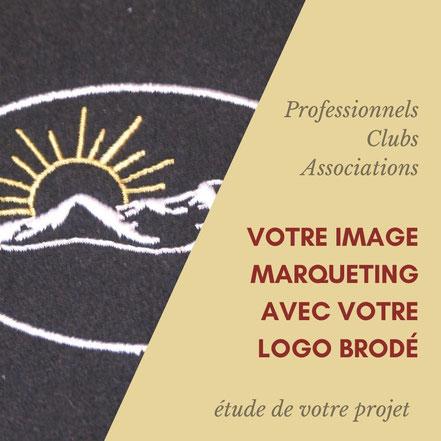 Atelier de broderie en Corrèze, broderie d'un slogan, broderie de logo sur vetements professionnels
