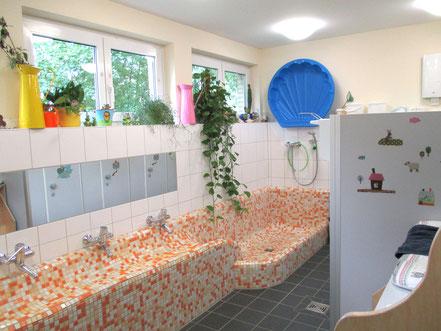Waschraum der Kita // Foto: Mussner