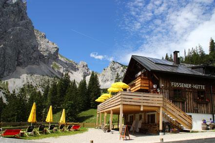 Füssener Hütte: Berghütte/Schutzhütte in Tirol