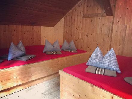 6er Lager auf der Füssener Hütte