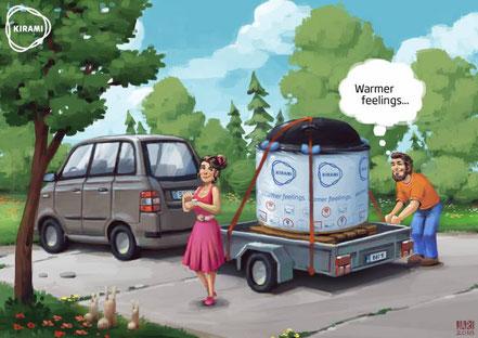 Wie werden Badefässer transportiert
