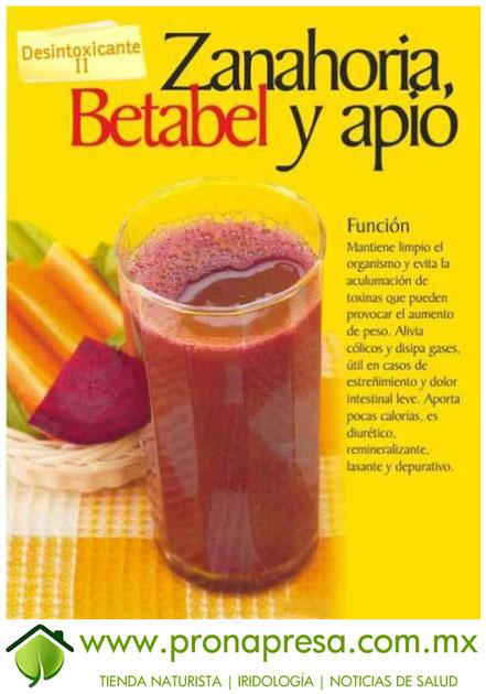Jugo Natural de Zanahoria, Betabel y Apio: Desintoxicante II