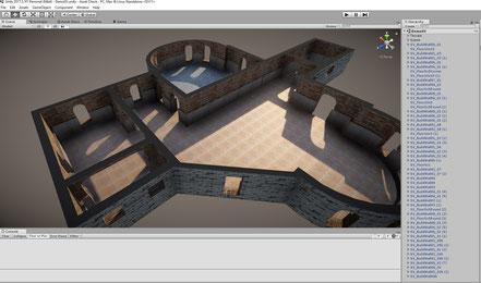 Work in progress scene with new snap grid prefabs