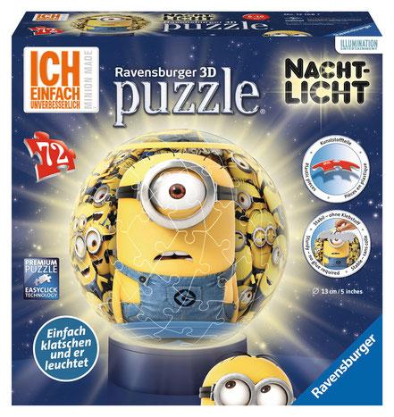 Minions 3D Puzzle Nachtlampe - Ravensburger Spiele - kulturmaterial - Fan Artikel Gewinnspiel