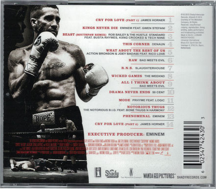 Southpaw Soundtrack - Eminem  - Shady Records - Universal Music - kulturmaterial - Cover Back