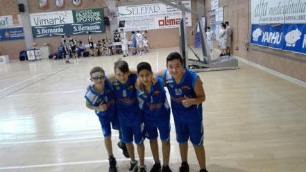 La delegazione Under 14: Silvestro, Paval, El Halloumi, Piumatti