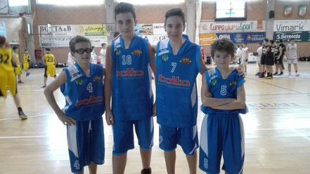 La delegazione Under 13: Fissolo, Sestu, Fruttero, Gallo