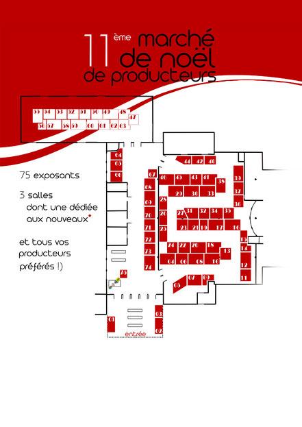 marché de noël de producteurs - agriculteurs - artisans - artistes - lons le saunier - jura