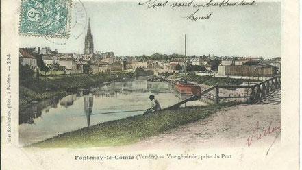 Des bâteaux de forts gabarits accostaient aux port de Fontenay-Le-Comte.